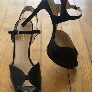 Nine West Platform Peep-Toe Stilettos - Size 8.5